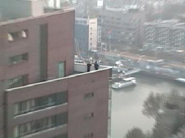 People spied upon from Robert's penthouse appartment in Rotterdam